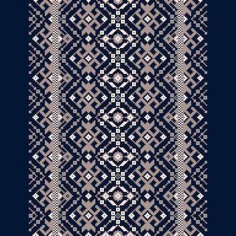 Vectorillustratie van oekraïens volks naadloos patroonornament
