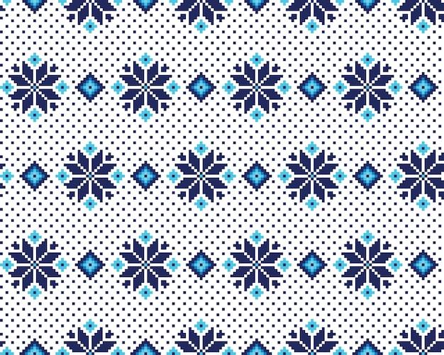 Vectorillustratie van oekraïens volkspatroon naadloze patroon. etnische versiering. grenselement. traditioneel oekraïens, wit-russisch volkskunst gebreid borduurwerkpatroon - vyshyvanka