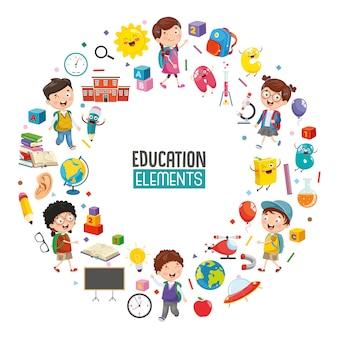 Vectorillustratie van onderwijs conceptontwerp