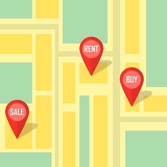 Vectorillustratie van onroerend goed infographic wijzend onroerend goed huis te koop