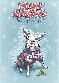 Vectorillustratie van prettige kerstdagen en gelukkig nieuwjaar