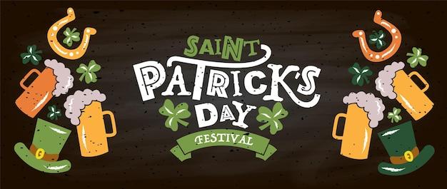 Vectorillustratie van saint patricks day-logotype
