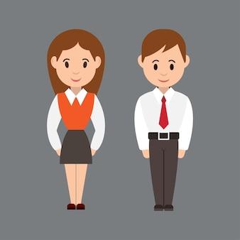 Vectorillustratie van schattig meisje en jongen. cartoon-stijl.