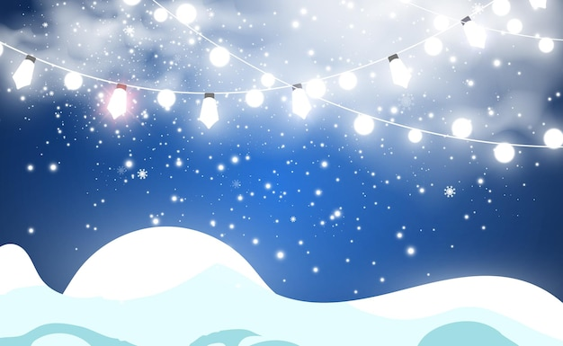 Vectorillustratie van vliegende sneeuw op een transparante achtergrond. natuurlijk fenomeen van sneeuwval