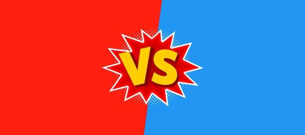 Vectorillustratie van vs als versus letters in komische stijl.