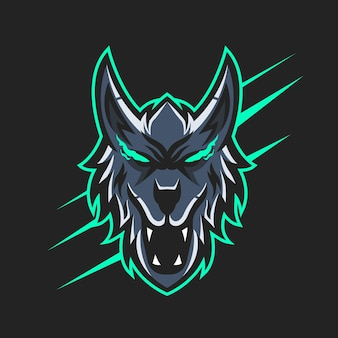 Vectorillustratie van wolf mascotte logo ontwerp