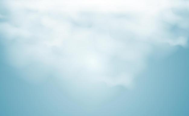 Vectorillustratie van wolken op een transparante achtergrondrealistische regenwolken