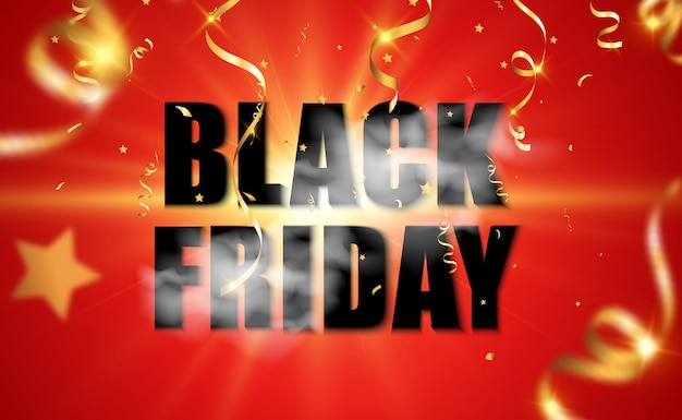 Vectorillustratie van zwarte vrijdag verkoop banner op transparante background