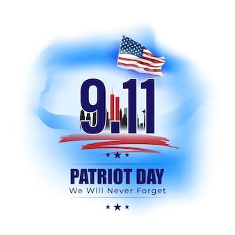 Vectorillustratie voor de dag van de patriot van de verenigde staten