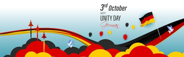 Vectorillustratie voor duitse eenheid dag-3 oktober