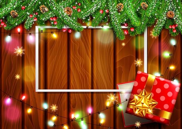 Vectorillustratie voor vrolijk kerstfeest en gelukkig nieuwjaar. wenskaart achtergrond