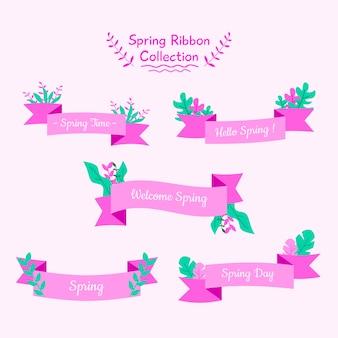 Vectorillustratie voorjaar lint banner met kleurrijke stijl