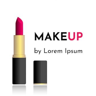 Vectorillustratieadreskaartje voor make-upkunstenaar