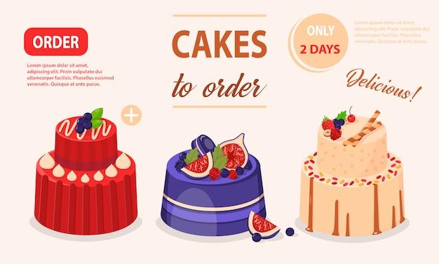 Vectorillustratiereeks cakes