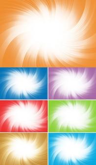 Vectorinzameling kleurrijke achtergrond; clip art