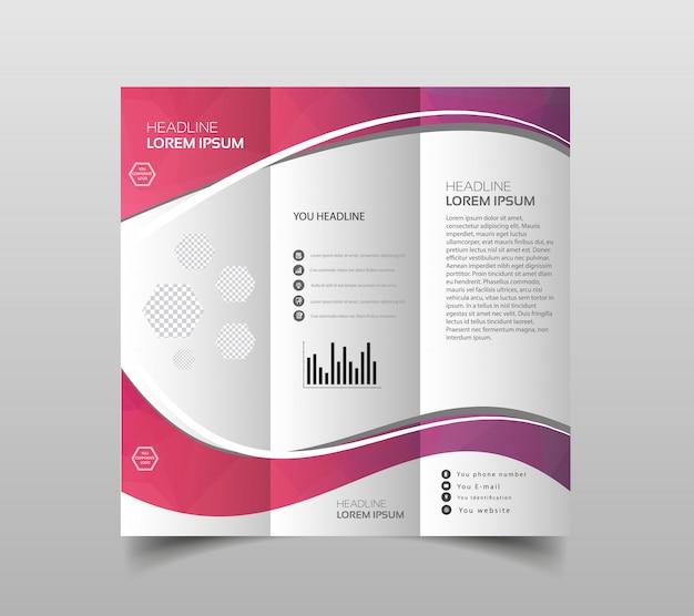 Vectorinzameling van drievoudige brochureontwerpmalplaatjes