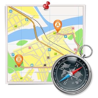 Vectorkaart en kompas