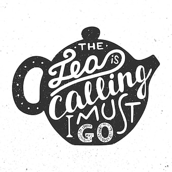 Vectorkaart met hand getrokken unieke typografie