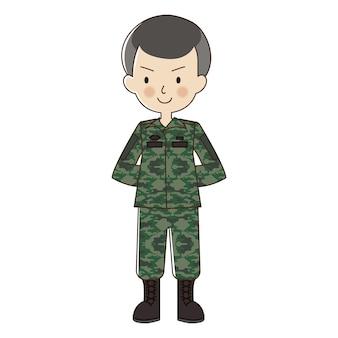 Vectorkarakter over militair.