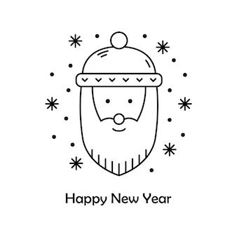 Vectorkerstmisillustratie. nieuwjaar overzicht pictogram. kerstman