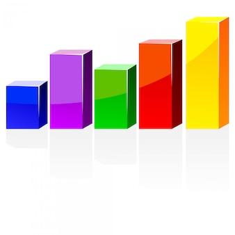 Vectorkleurendiagram met een schaduw