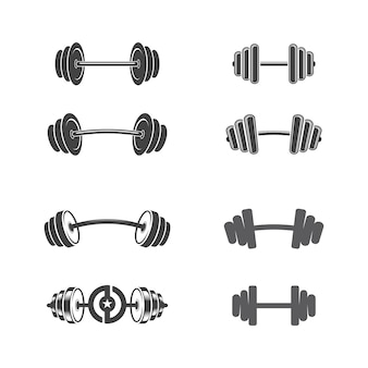 Vectorobject en pictogrammen voor sportlabel, gymbadge, fitnesslogo-ontwerp