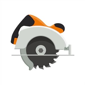 Vectorontwerp van handcirkelzaag.