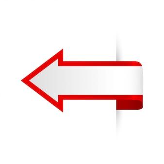 Vectorpijl voor banners infographic presentatie