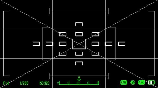Vectorsjabloon voor uw ontwerp. camerazoeker. matglas van de camera. opname van zoekercamera.
