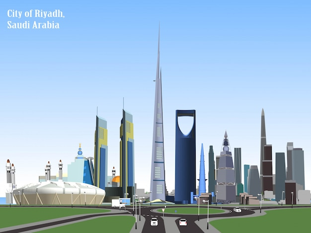 Vectorstad van riyadh, saudi-arabië