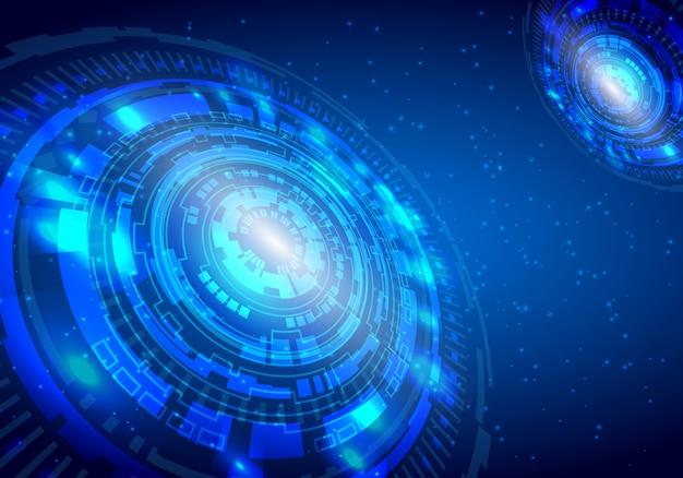 Vectortechnologiecirkel en technologieachtergrond
