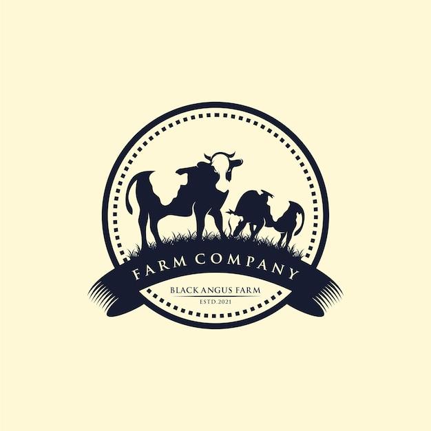 Veeboerderij vintage logo