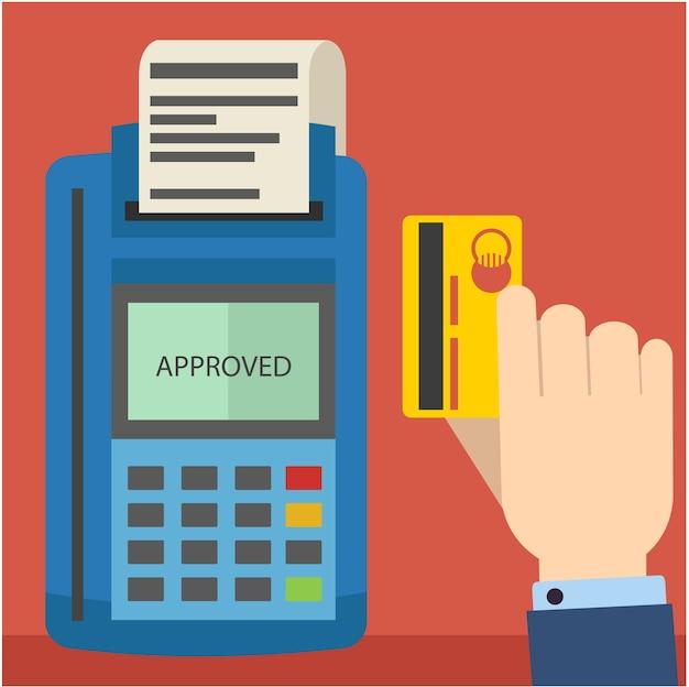 Veeg creditcard met creditcardterminal