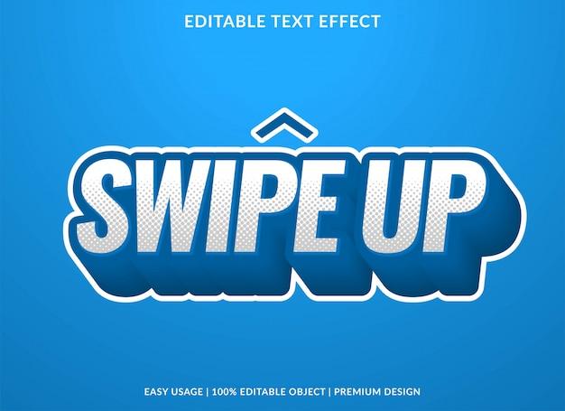 Veeg omhoog teksteffectsjabloon met 3d-vetgedrukte stijl