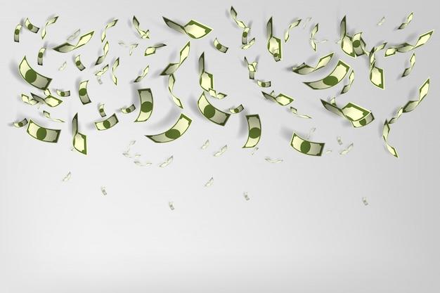 Veel geld achtergrond vectorillustratie