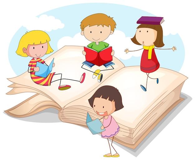Veel kinderen lezen boeken