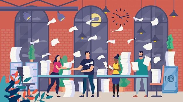 Veel office-papierwerk, bureaucratie