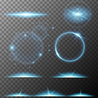 Veel ontwerp van blauwe straallichten