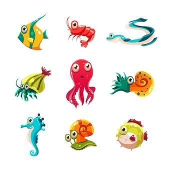 Veel vissoorten en zeedieren