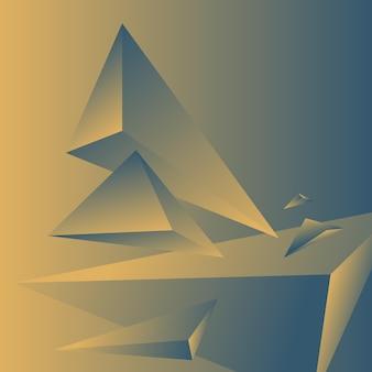 Veelhoek, abstract kleurrijk, blauw grijs, fresia gradiënt behang achtergrond vectorillustratie