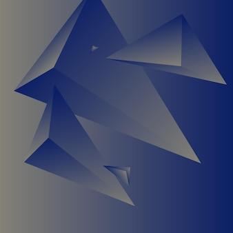 Veelhoek, abstract kleurrijk, koningsblauw, ivoor gradiënt behang achtergrond vectorillustratie