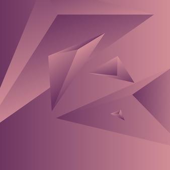 Veelhoek, abstract kleurrijk, rozenwater, orchidee gradiënt behang achtergrond vectorillustratie