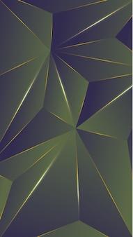 Veelhoek, abstracte groene, paarse gradiënt behang achtergrond vectorillustratie