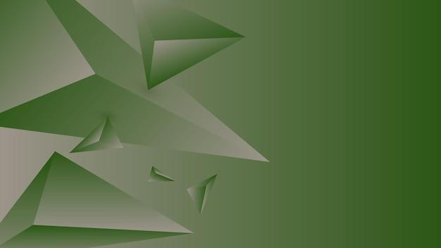 Veelhoek, abstracte groene, taupe gradiënt behang achtergrond vectorillustratie