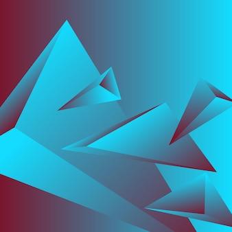 Veelhoek, abstracte kleurrijke, bordeaux, blauwe gradiënt behang achtergrond vectorillustratie