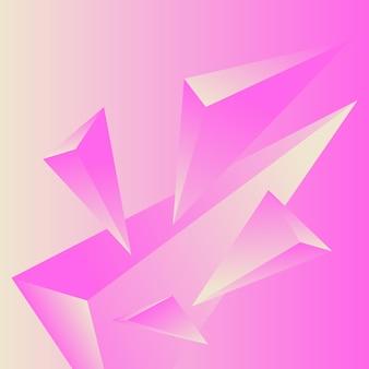 Veelhoek, abstracte kleurrijke, crème, lila gradiënt wallpaper achtergrond