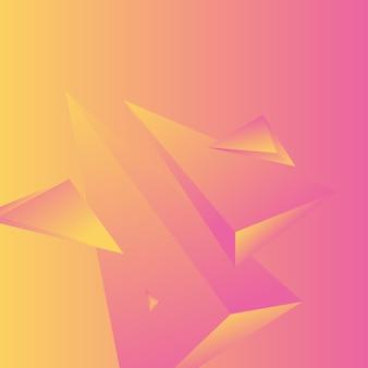 Veelhoek, abstracte kleurrijke, magenta, amber gradiënt behang achtergrond vectorillustratie