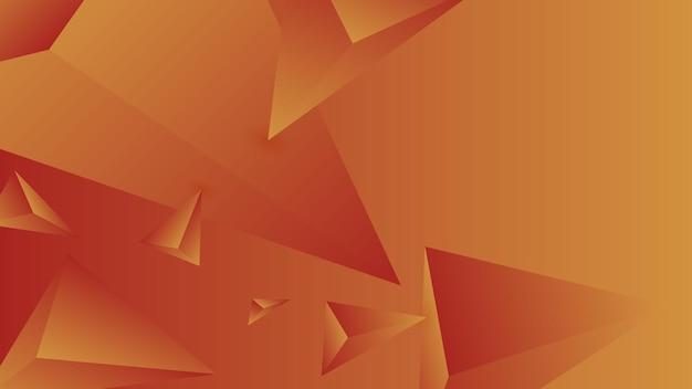 Veelhoek, abstracte scharlaken, mandarijn gradiënt behang achtergrond vectorillustratie