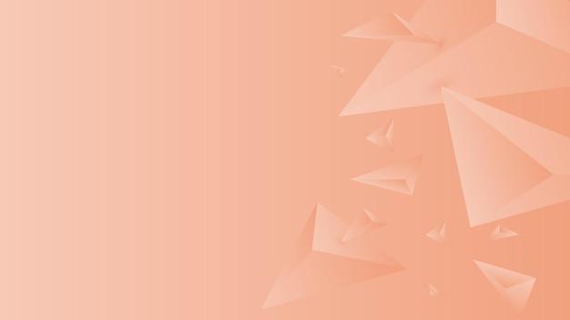 Veelhoek, abstracte zalm, mantel gradiënt behang achtergrond vectorillustratie