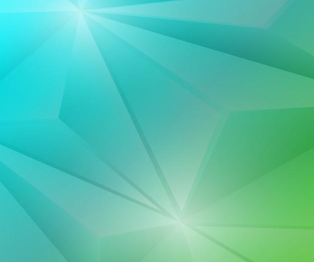 Veelhoek geometrische groene en blauwe achtergrond met kleurovergang.